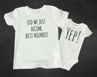 Siblings Onesie and Shirt / Did We Just Become Best Friends / Sibling and NICU baby / Preemie sibling shirts /  shirt and onesie set