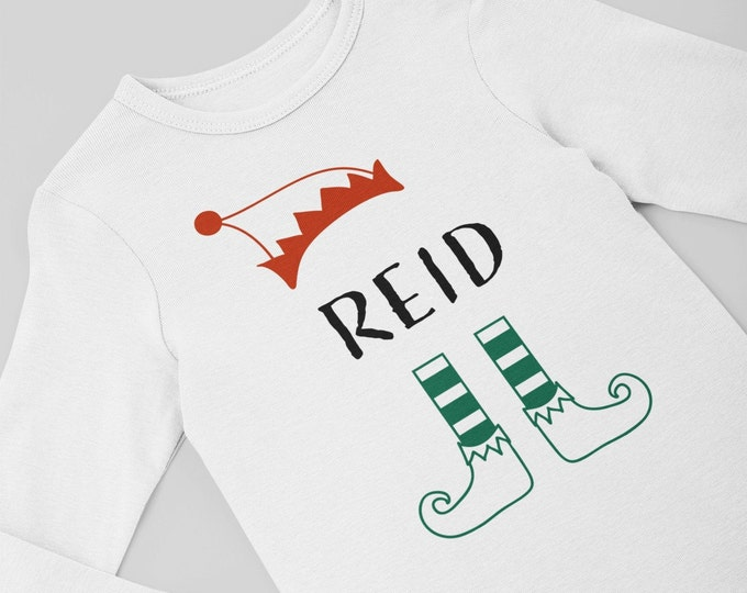 Personalized elf shirt / personalized elf Bodysuit / Christmas bodysuit / elf Bodysuit /preemie clothes / preemie christmas / newborn