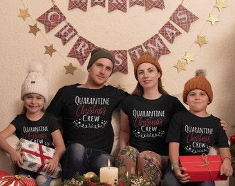 Quarantine Christmas Crew Shirts ,Christmas Shirt, Pandemic Christmas Shirt, Christmas Shirts For Family, Holiday Shirt,Cute Christmas Shirt