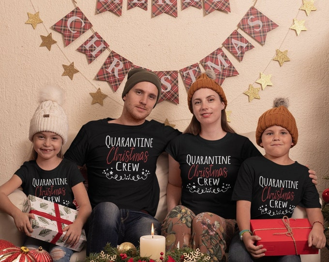 Quarantine Christmas Crew Shirts ,Christmas Shirt, Pandemic Christmas Shirt, Christmas Shirts For Family, Holiday Shirt,Cute Christmas Shirt