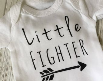 Preemie clothes / Preemie boy bodysuit / preemie girl bodysuit / Little Fighter / Preemie Gift / little fighter bodysuit / NICU bodysuit