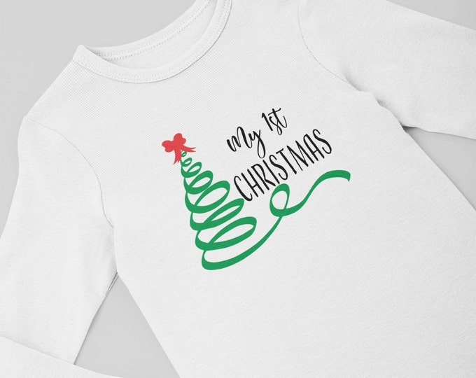 My First Christmas/ Preemie clothes / preemie girl / preemie boy / preemie christmas / first Christmas / preemie girl bodysuit / christmas