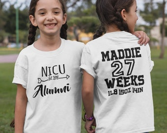 Prematurity Awareness / NICU Alumni / NICU Walk / NICU Graduate / first birthday / Preemie Birthday / preemie / toddler shirt /