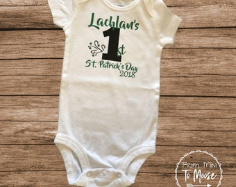 St. Patrick's day clothes / St. Patrick's Day Bodysuit / preemie boy bodysuit / Preemie girl bodysuit / preemie girl clothes / my first