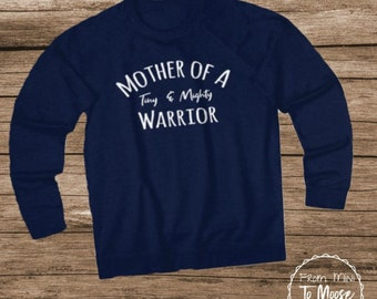 Mother of a Tiny Mighty Fighter Unisex Heavyweight Fleece Crew
