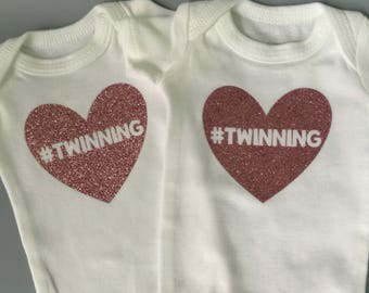 Baby girl bodysuit / Preemie girl bodysuit /Twin girl bodysuits / preemie twin bodysuits / twin girl onesies / preemie twin girls