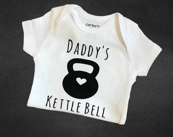 3df3e2d289a41 Daddy's Kettlebell / preemie girl bodysuit / athletic baby girl bodysuit /  preemie boy bodysuit / athletic baby boy bodysuit