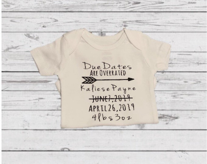 Due Dates Are Dumb Onesie / Preemie Clothes / preemie boy clothes / preemie girl clothes /NICU / Newborn / NICU Onesie / Preemie baby