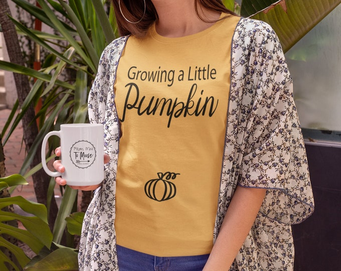 Growing a little pumpkin, Baby bump Pumpkin, Pregnancy announcement, We're Expecting Fall Autumn Reveal,  October pregnancy Shirt, Thankful