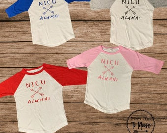 NICU Alumni/ toddler shirt / baseball shirt / NICU Walk/ preemie birthday / NICU reunion / preemie / preemie clothes / Nicu / nicu mom