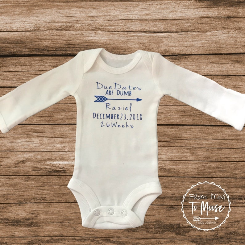 04b9c41e5 Due Dates Are Dumb / Preemie Clothes / preemie boy clothes / | Etsy