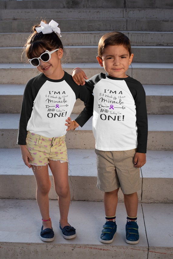 Preemie first birthday / Nicu walk shirts / toddler shirt / birthday shirt / prematurity awards customizable shirts / nicu walk
