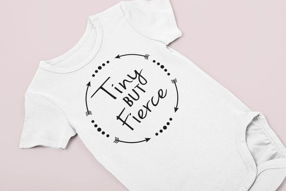 Preemie boy bodysuit / preemie girl bodysuit / baby boy bodysuit / tiny but fierce / preemie girl clothes / preemie boy clothes / bodysuit