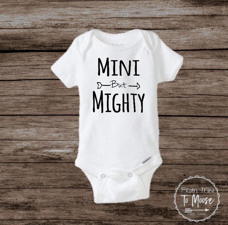 Tiny but Mighty Bodysuit  Preemie boy bodysuit  preemie girl bodysuit  Newborn Fighter  NICU onesie  Preemie Girl clothes  preemie boy
