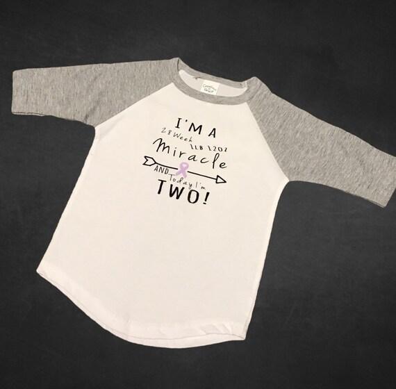 Preemie First Birthday Nicu Walk Shirts Toddler Shirt