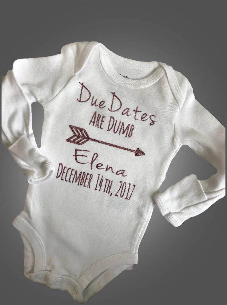6533a7cf8 Due dates are dumb / preemie bodysuit / preemie clothes / | Etsy