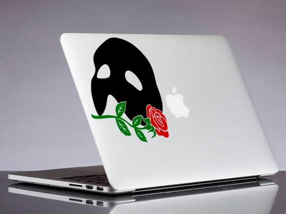 Das Phantom Der Oper Aufkleber Maske Und Rose Glitzer Sticker Für Laptop Macbook Auto Notebook Tablet Handy Mac