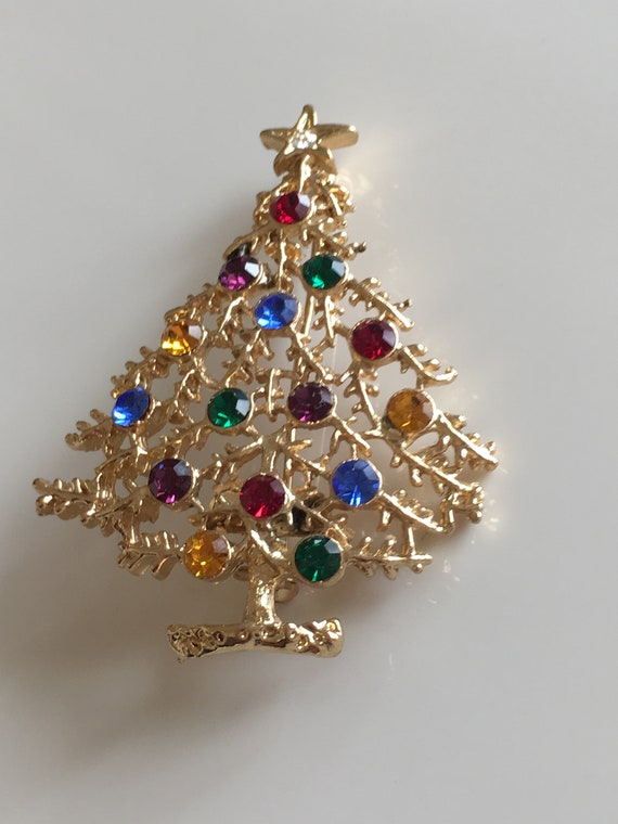 Rhinestone Jewelry Brooch Pin for 18 inch American Doll Christmas Gift Decor
