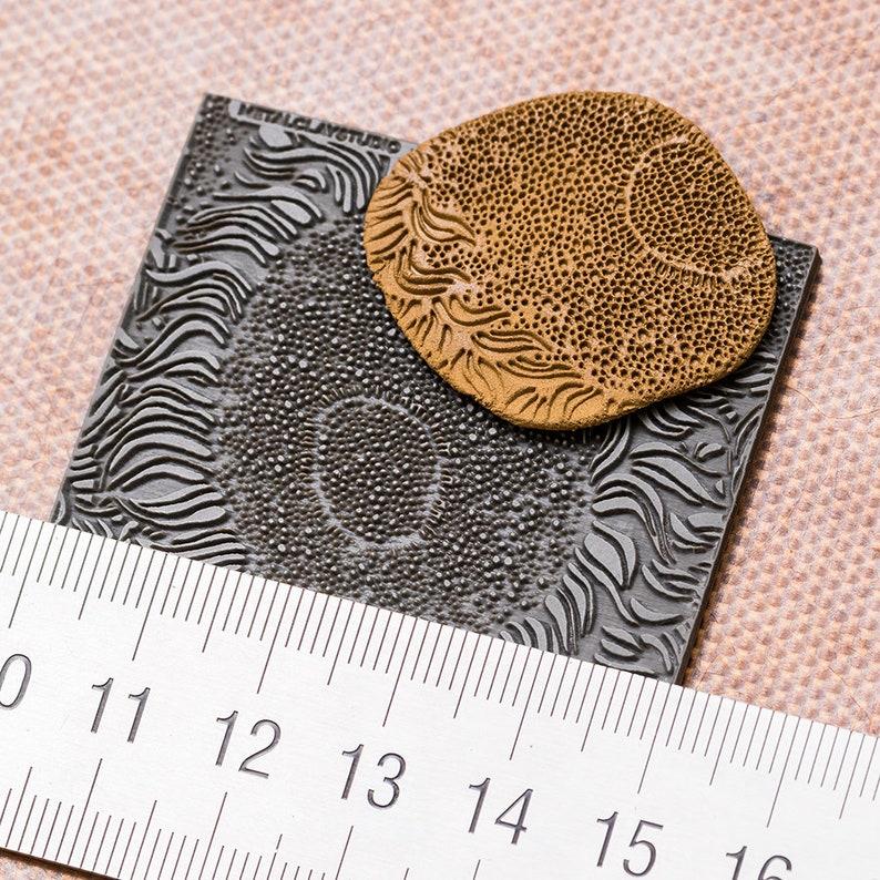 Metalclay Textured Flat Mold Metal clay Stamp ART#10 Modern Rubber Texture Author/'s Texture Texture Matt