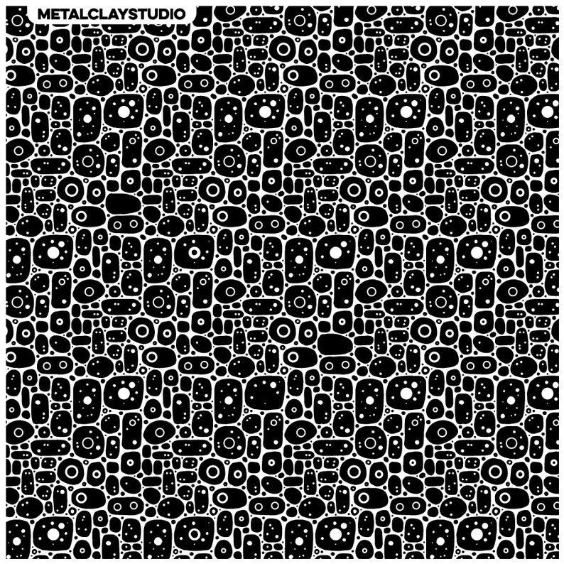 ABS#126 Metal clay Stamp Metalclay Textured Flat Mold Texture Matt Rubber Texture Author/'s Texture