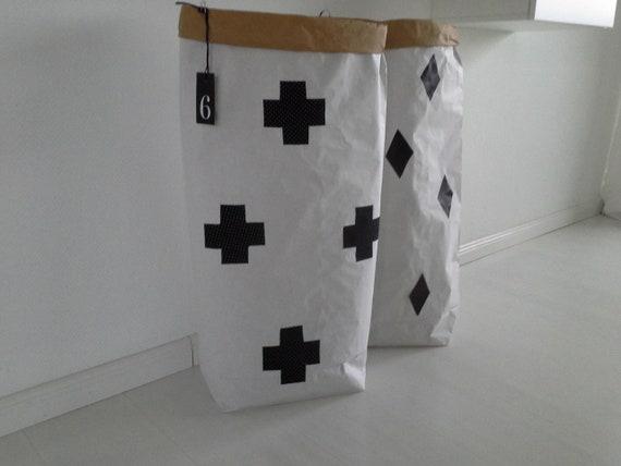 Papiersack Paperbag blanko weiß