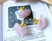 Rose Quartz Drawer Knobs Cupboard Door Handles gemstone pink crystal home decor furniture pink quartz gold base dresser boho brass agate