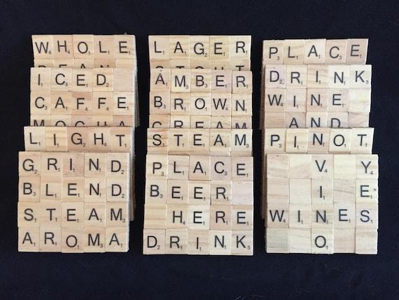 Personalised Scrabble Coasters, Scrabble Letter R Coaster Scrabble R Coaster