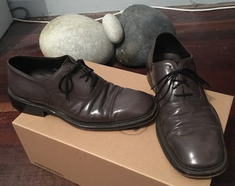ced495edbea Vintage Giorgio Armani Brown Leather Mens Dress Shoe