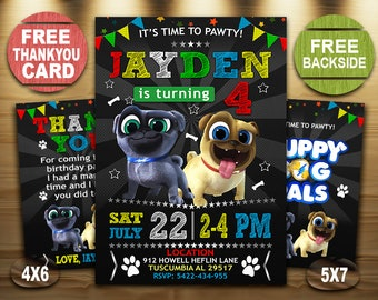 Puppy Dog Pals Invitation Boy Birthday Invite