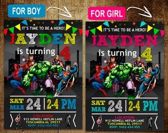 Superhero Birthday Invitation. Avengers Invitation. Superhero Invitation. Avenger. Superhero Birthday Party. Superhero Party. DIY