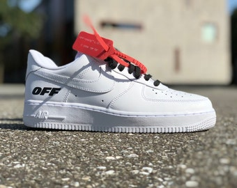 new products 27915 20d1a Nike Air Force 1 OFF- WHITE custom by fawl