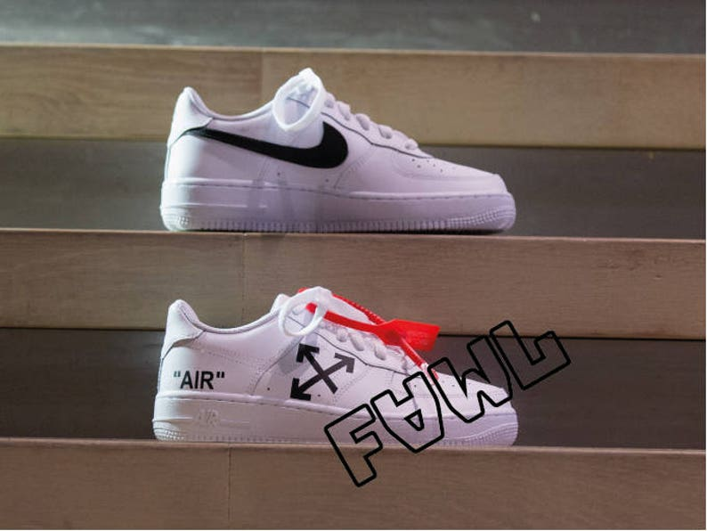 9362409cd8b796 Nike Air Force 1 OFF WHITE AIR custom