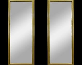 bcf1725ae7d5e Pair of Mid-Century Gold Mirrors