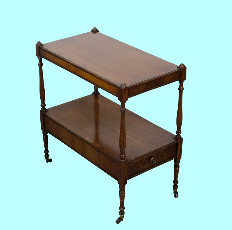 Mahogany Two Tiered Side Table