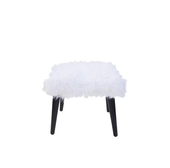 Peachy Vintage Faux Fur Bench Whit Faux Fur Bench Mid Century Fur Bench Uwap Interior Chair Design Uwaporg