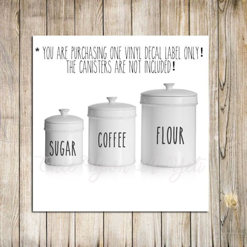 Canister Set Labels Flour Sugar Pantry Decals Coffee Decal Kitchen Canister Labels Canister Set Stickers Kitchen Canister Decals