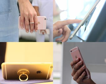 The Graspy Secure Universal Smartphone Tablet Ring Grip Holder Stand