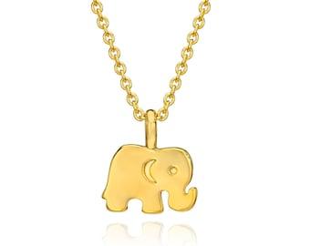 Elephant Necklace Gold. Elephant Pendant Necklace