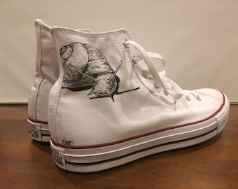 48224b79ce32 Custom White High Top Converse
