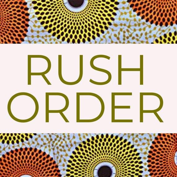 RUSH ORDER. African print Ankara African fashion A