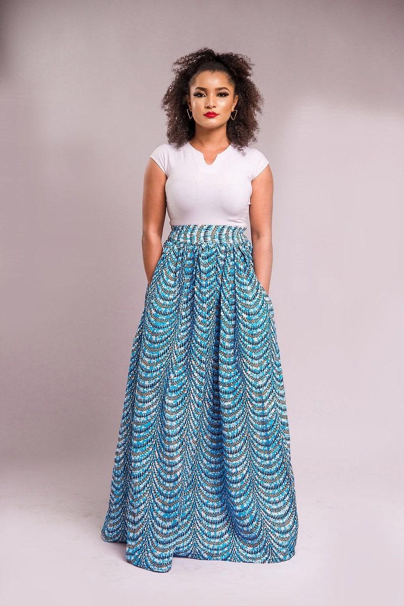 9340840adee Maita African print African clothing Ankara Maxi skater skirt | Etsy