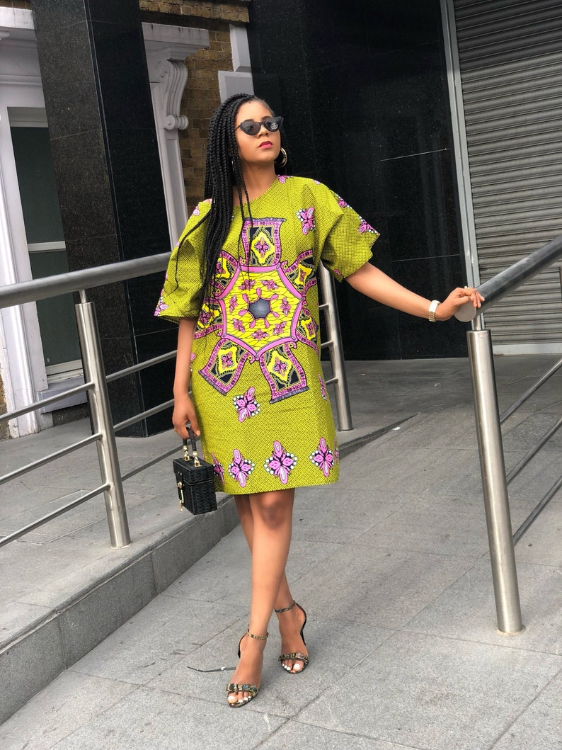 bac2701a26e Majesty African print Ankara Tunic shift dress