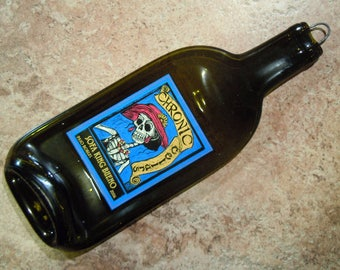 Chronic Cellars Sofa King Bueno Great Bar Wall Hanging or Cheese Tray Melted Wine Bottle