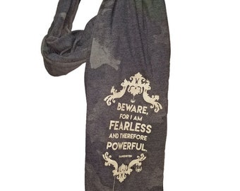 """Frankenstein's Monster Literary Scarf 