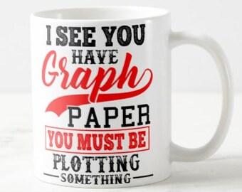 Graph Paper Pun Math Teacher Gift Mug