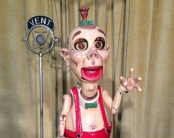 """It's """"QUEBERT"""" The Mexican Elf. A one of a kind Marionette Puppet."""