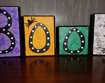 Boo! Block Decor