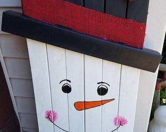 Snowman/Scarecrow combination door Greeter