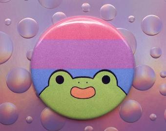 Bisexual Pride Pin   Pride Pin    LGBT Flag Pin   Frog Button   Bisexual Pin   Bisexual Flag