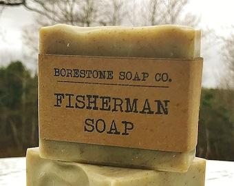Fisherman Soap (1 bar, BERGAMOT, French green clay)